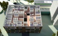 Aufgeschnittenes Gebäude Klinik Friedrichshafen